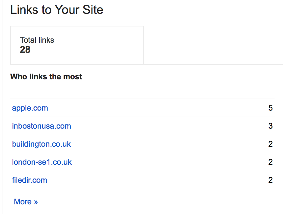 Webmaster Tools - Links to your site