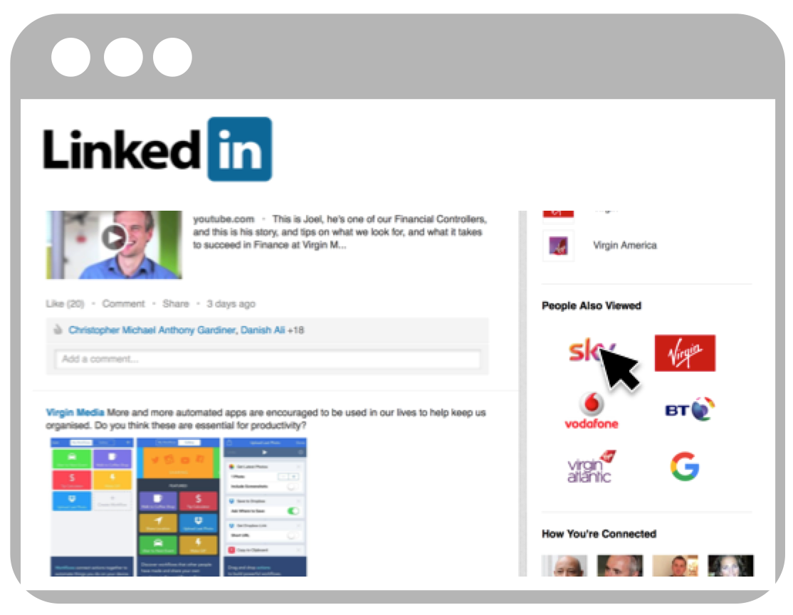 Linked in page